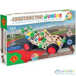Junior 3 Az 1-Ben Sportkocsi Fa Építőjáték 107Db-os (Alexander Toys, 2158)