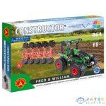 Traktor Modell Ekével Fém Építőjáték 464Db-os (Alexander Toys, 2164A)