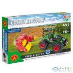 Traktor Szénabálázóval Modell Fém Építőjáték 491Db-os (Alexander Toys, 2162)