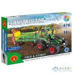 Traktor Trágyaszóróval Modell Fém Építőjáték 476Db-os (Alexander Toys, 2163)