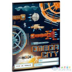 Omega City Vonalas Füzet 32 Lapos 21-32 A/5-Ös Méret (Ars Una, 93629089)