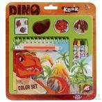 Dinoszauruszos Színező Szett Spirálos Füzettel (AS Toys, 1027-64150)