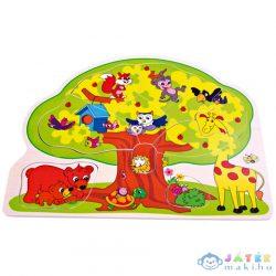 Állatos Fa Forma-Puzzle (Bino Toys, 88119)