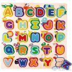 Angol Abc Fa Formaillesztő Játék Állatokkal (Bino Toys, 70252)