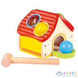 Fa Kalapácsos Formaillesztő Házikó (Bino Toys, 84199)