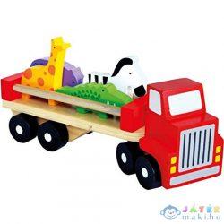 Fa Kamion Állatfigurákkal (Bino Toys, 84076)