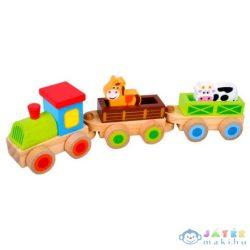 Fa Vonat Állatkákkal (Bino Toys, 82143)