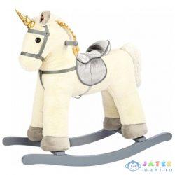 Fehér Fa Unikornis Hintaló 47Cm-Es (Bino Toys, 82550)