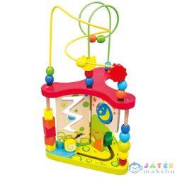 Három Oldalú Gyöngyvezető Készségfejlesztő Játék (Bino Toys, 84202)