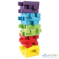 Jenga 60Db-os Színes Fa Toronyépítő Készlet (Bino Toys, 84205)