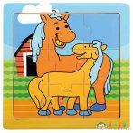 Lovak 9Db-os Fa Puzzle (Bino Toys, 88019)