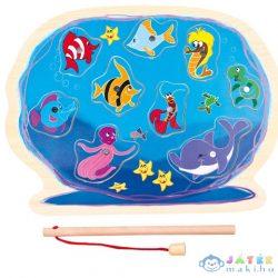 Óceán Horgászható Fa Forma-Puzzle (Bino Toys, 88120)
