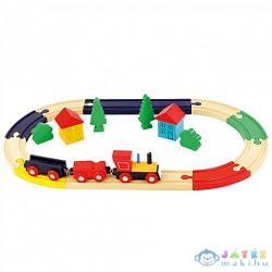Ovális Fa Vonatszett 19Db-os (Bino Toys, 82274)