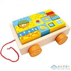 Színes Építőkockák Kocsiban (Bino Toys, 80152B)