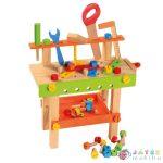 Színes Fa Barkácsasztal Szerszámokkal - Bino Toys (Bino Toys, 82149)
