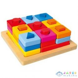 Színes Fa Formaillesztő Fejlesztő Játék (Bino Toys, 72438)