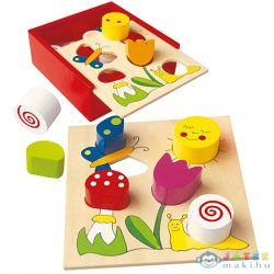 Színes Fa Formaillesztő Játék Dobozban (Bino Toys, 84154)