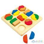 Színes Geometrikai Készségfejelsztő Kirakó (Bino Toys, 84029)
