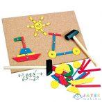 Szögelhető Fa Kreatív Tábla Szett 243 Elemmel (Bino Toys, 82188)
