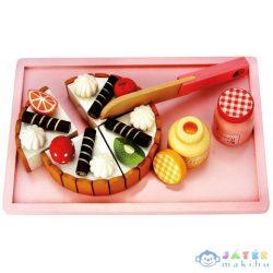 Vágható Fa Játék Születésnapi Torta (Bino Toys, 83413)