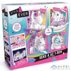 Style4Ever: Díszítsd Fel 4 Az 1-Ben Kreatív Unikornis Szett (Canal Toys, OFG177)