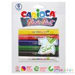 3D Neon Textil Festék Szett 6Db-os (Carioca, 42133)