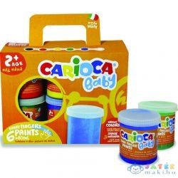 Baby Lemosható Ujjfesték 6Db-os Szett - Carioca (Carioca, KO032)