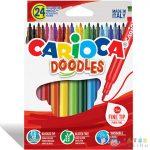 Doodles Hosszú Hegyű Filc 24Db-os Szett - Carioca (Carioca, 42315)