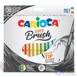 Ecsetvégű Filctoll Szett 20 Db-os Kiszerelésben - Carioca (Carioca, 42968)