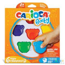 Maci Formájú Baby Teddy Zsírkréta 6 Db-os - Carioca (Carioca, 42956)