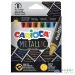 Metallic 8Db-os Háromszög Alakú Zsírkréta Szett - Carioca (Carioca, 43163)