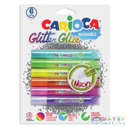 Neon Csillámos Dekoráló Szett 6Db-os (Carioca, 42111)