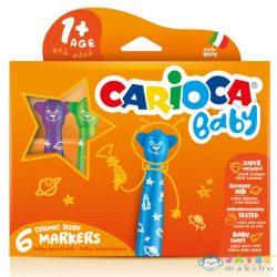Carioca: Színes Macis Bébi Filctoll 6Db-os Szett Kimosható (Carioca, 42815)