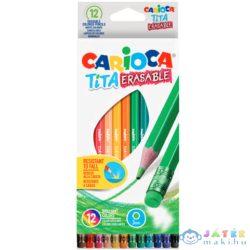 Carioca: Tita Törésálló Színes Ceruza Szett Radírvéggel 12Db-os (Carioca, 42897)