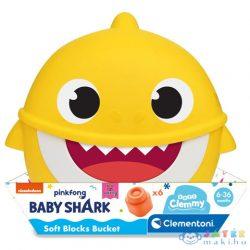 Baby Shark Építőkocka Tárolóban - Clementoni (Clementoni, 17427)