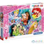 Disney Hercegnők És Kedvenceik Supercolor Puzzle 60Db-os - Clementoni (Clementoni, 26995)