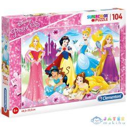 Disney Hercegnők Supercolor Puzzle 104Db-os - Clementoni (Clementoni, 27086C)