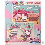 Hello Kitty Supercolor 2 Az 1-Ben Puzzle 2X20Db-os - Clementoni (Clementoni, )