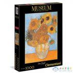 Museum Collection: Vincent Van Gogh - Váza Tizenkét Napraforgóval 1000 Db-os Puzzle - Clementoni (Clementoni, 31438)