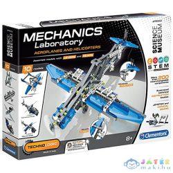 Science & Play: Mechanikus Labor Repülők És Helikopterek 2 Az 1-Ben Építőjáték - Clementoni (Clementoni, 60455)