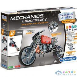 Science & Play: Mechanikus Labor Roadster És Dragster 2 Az 1-Ben Építőjáték - Clementoni (Clementoni, 60974)