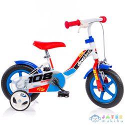 Dino Sport Kék-Fehér-Piros Kerékpár 10-Es Méretben (Dino Bikes, 108FL-0506)