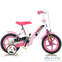 Dino Sport Rózsaszín-Fehér Kerékpár 10-Es Méretben (Dino Bikes, 108FL-0509)