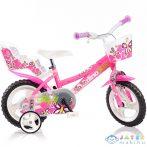 Flappy Rózsaszín-Fehér Kerékpár 12-Es Méretben (Dino Bikes, 126RL-02)