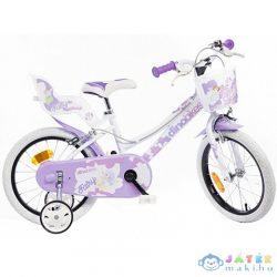 Kerékpár Fehér Színben 16-os Méret Lányoknak (Dino Bikes, 166RSN-05)