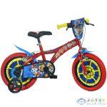 Mancs Őrjárat Piros-Kék Kerékpár 14-Es Méretben (Dino Bikes, 614-PW)