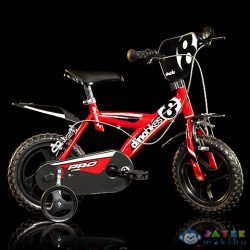 Pro Kerékpár Piros Színben 12-Es Méret (Dino Bikes, 123GLN-06)