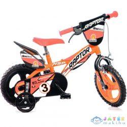 Raptor Narancssárga Kerékpár 12-Es Méretben (Dino Bikes, 612L-RP)