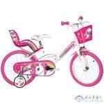 Unikornis Rózsaszín-Fehér Kerékpár 14-Es Méretben (Dino Bikes, 144R-UN)