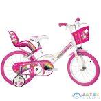 Unikornis Rózsaszín-Fehér Kerékpár 16-os Méretben (Dino Bikes, 164R-UN)